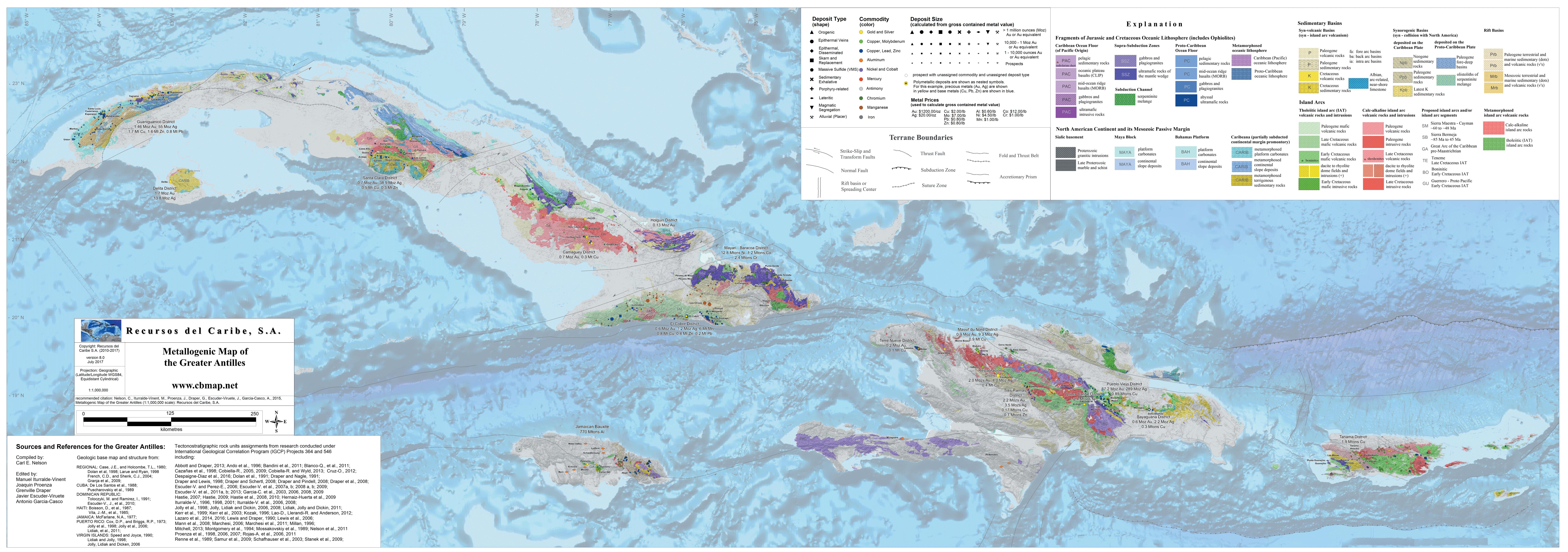 Topographic Map Of Haiti.Greater Antilles Recursos Del Caribe S A